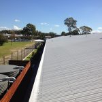 QEMCO Gutter Guard installed to a Corrugated Roof